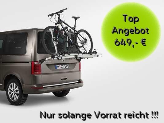 VW T6 Original Fahrradträger für die Heckklappe